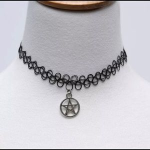 3 for $20 Silver Star Pendant Choker Necklace